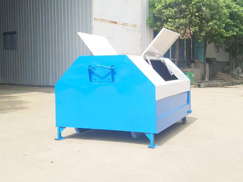 梯形3方垃圾箱(白+蓝)